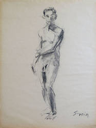 Untitled Figure Drawing by Lumi9