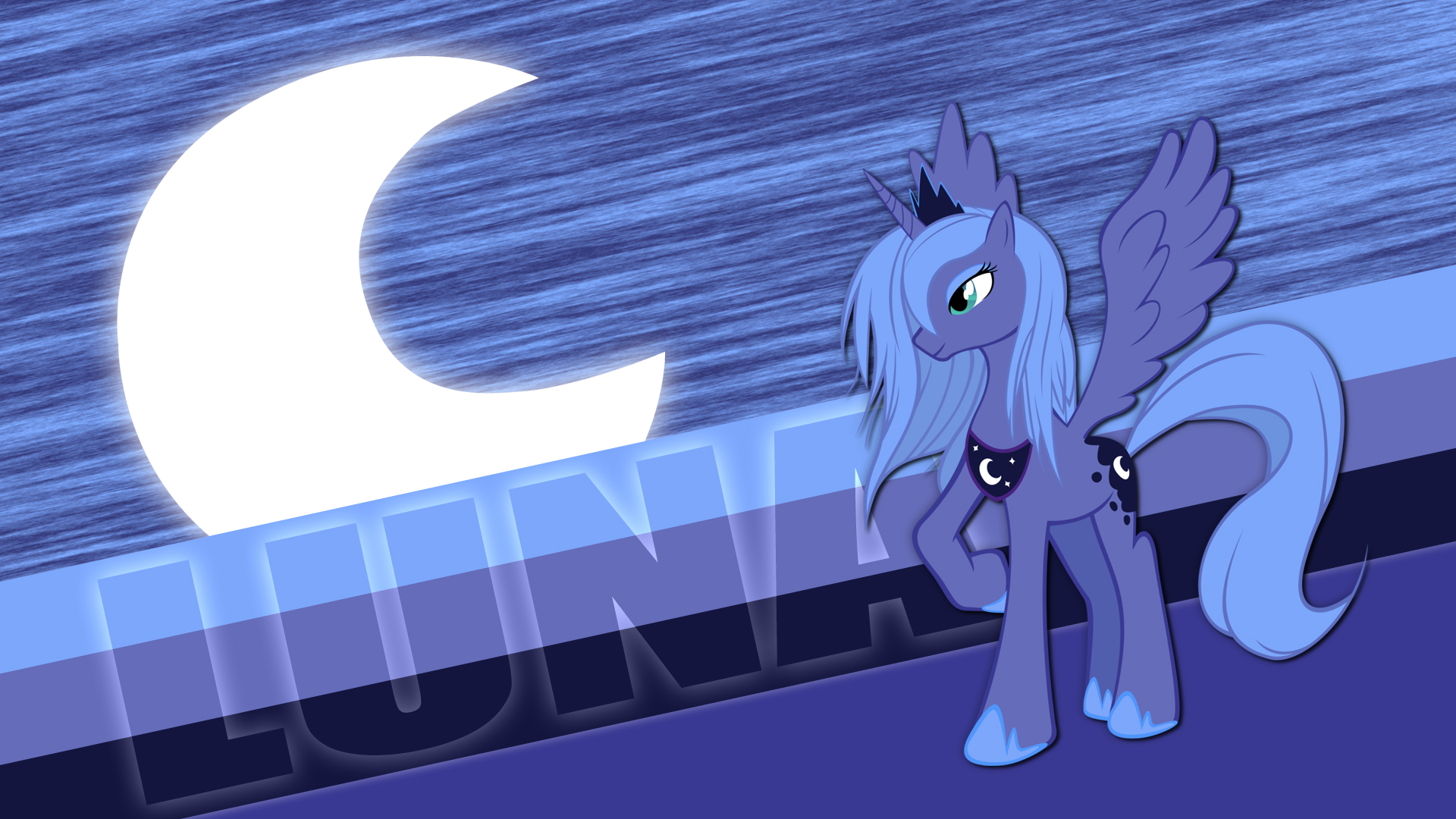 Princess Luna Wallpaper by Pappkarton