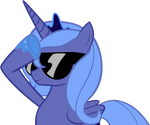 Princess Luna wears her sunglasses at night