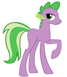 The Green And Purple Spike-Pony by Pappkarton