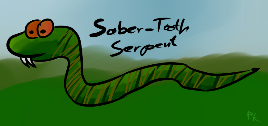 Saber-Tooth Serpent by Pappkarton