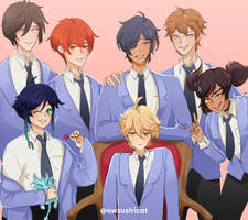 Genshin High School Host Club AU