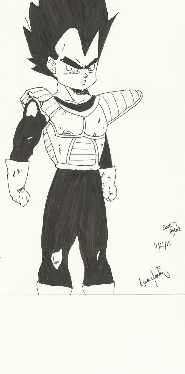 Vegeta Manga Style by Lyssana11