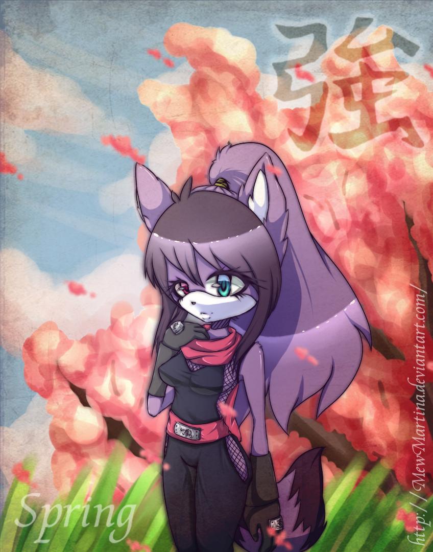Spring Ninja by MewMartina