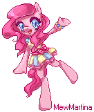 Pixel Pinkie Pie by MewMartina