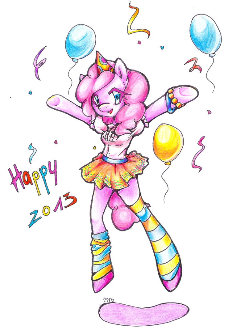 Pinkie wishes Happy 2013 by MewMartina