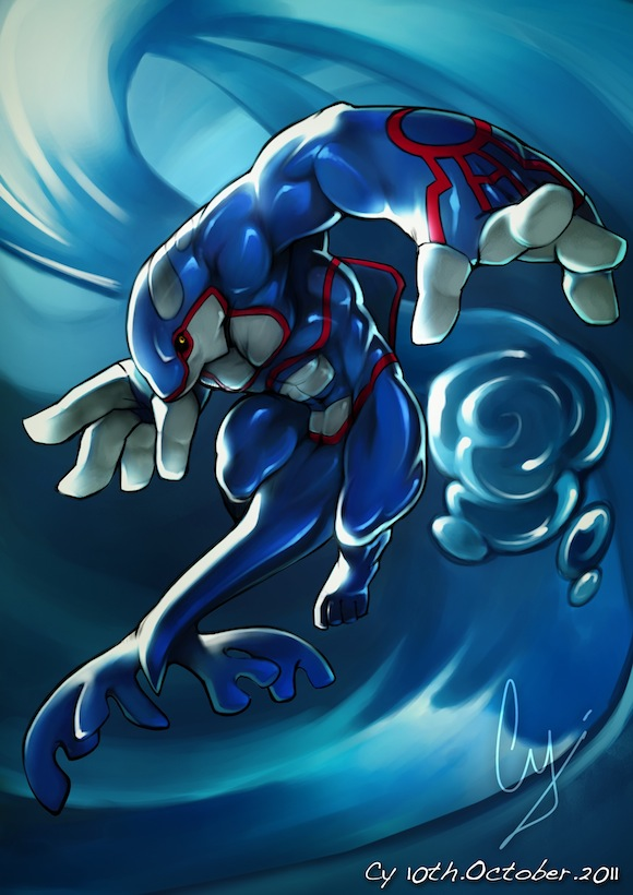 Anthro Kyogre by TheCGCy