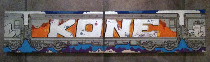 kone graffiti train