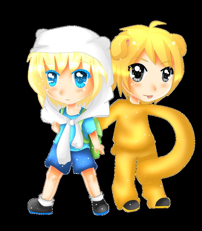 finn and jake best friends chibi by nanakoblaze on deviantart