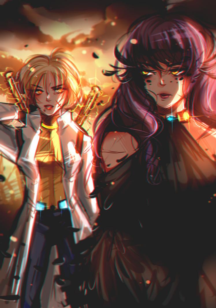 June and Mela by NanakoBlaze