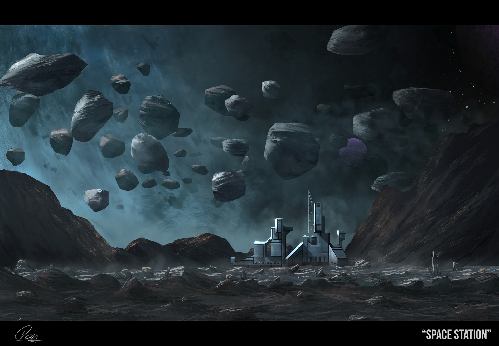 Concept Art - Space Station by DanaosC on DeviantArt