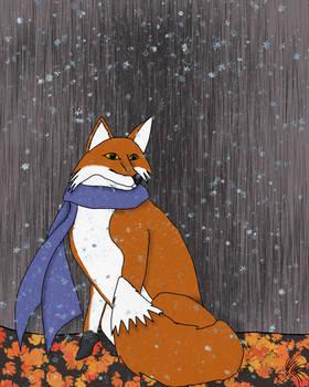 Fox's First Snow