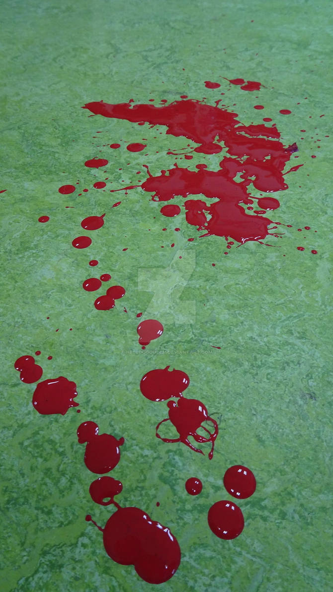 Blood!! ups no only red paint