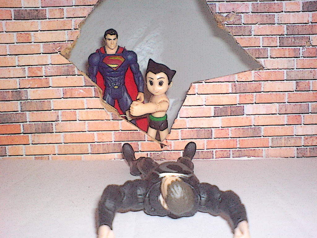 Astro Boy vs Zod textless by Dragonrider1227