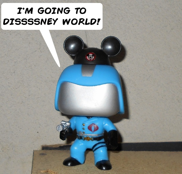 Cobra Commander going to Disney World by Dragonrider1227