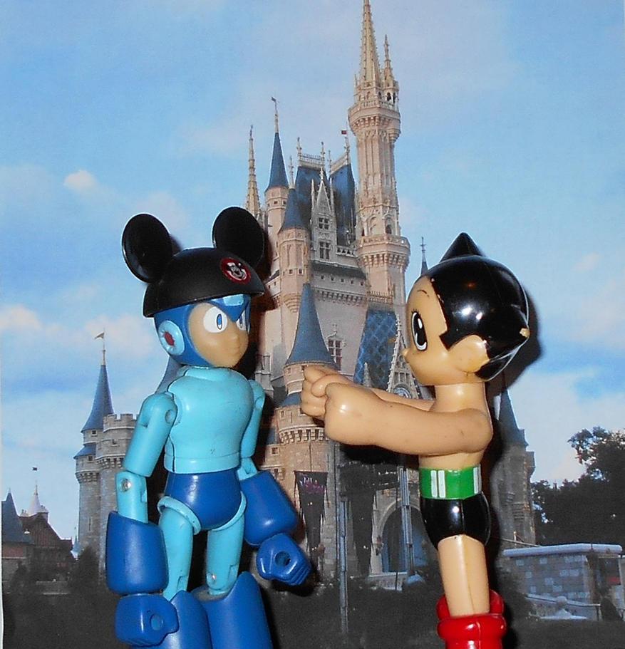 Astro Boy and Mega Man go to Disney World by Dragonrider1227
