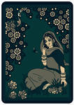 SHRI RADHARANI talking to a BUMBLEBEE - dark green