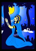 Shrimati Radharani searching for Shri Krishna by Mohinipriya