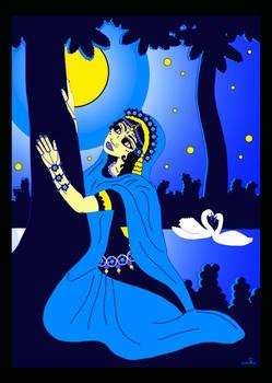 Shrimati Radharani searching for Shri Krishna