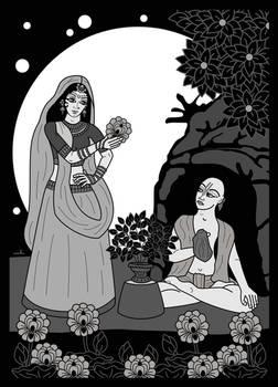 Haridas Thakura and Maya Devi b/w