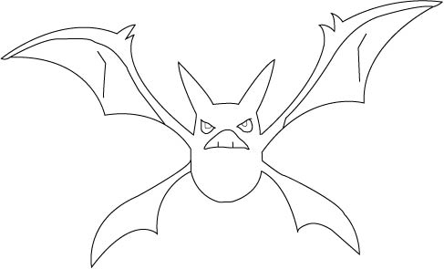 crobat line drawing by smysh