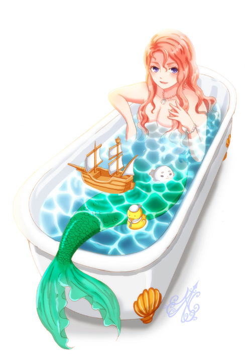 mermaid in the bath by nanahana773 on deviantart. Black Bedroom Furniture Sets. Home Design Ideas