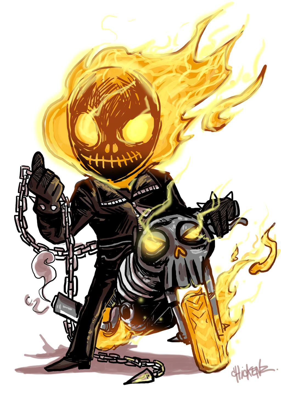 Little : Ghost rider by ChickenzPunk on DeviantArt
