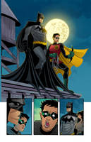 Batman Page 4 Color! by ChickenzPunk