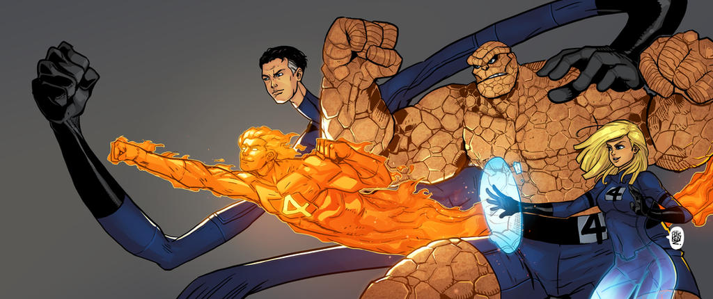 Fantastic Four by ChickenzPunk