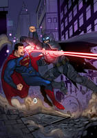 Son of Krypton vs Bat of Gotham! by ChickenzPunk