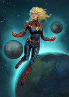 Captain Marvel by ChickenzPunk