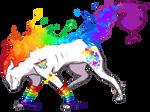 Rainbow Flare Cat| 1 Point adopt|(closed)