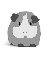Gray scale Guinea Pig by MeganEBundy