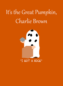 Its the Great Pumpkin Charlie Brown w/ text