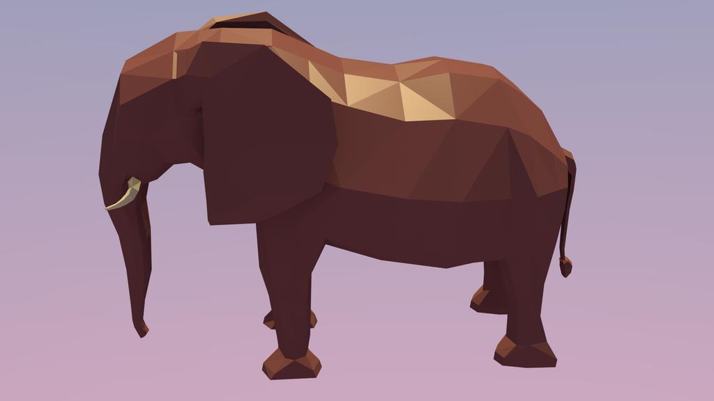 Low Poly Elephant #Day 7 by o-Oxalis-o