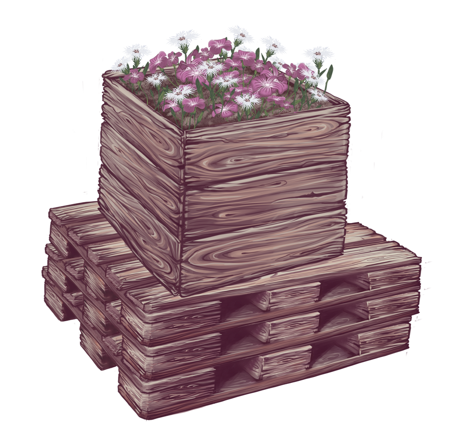 Bac de fleurs by o-Oxalis-o
