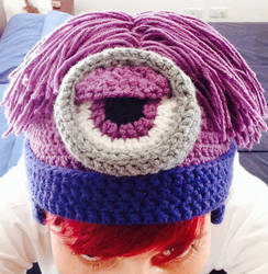 Purple Minion - Crochet Beanie by JoshikoseiSnak