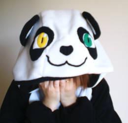 LuxeonJade Panda custom kigurumi pajamas by JoshikoseiSnak