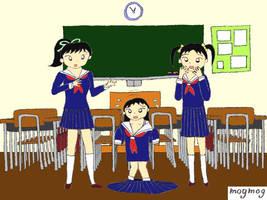 AR AP WG - 3 Schoolgirls pt 1 by gomyugomyu