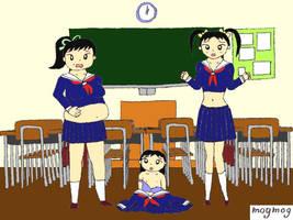 AR AP WG - 3 Schoolgirls pt 2 by gomyugomyu