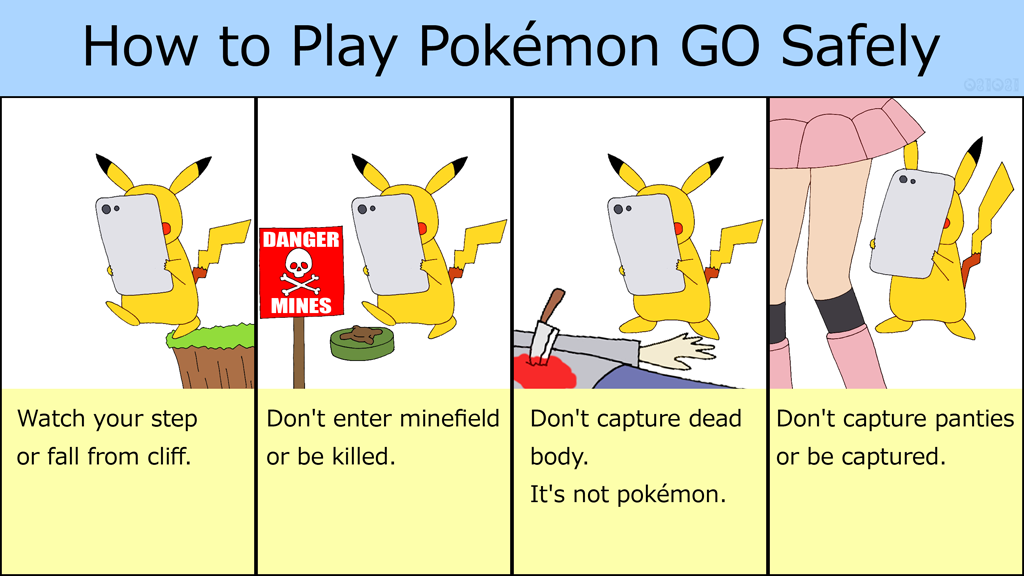 how to play pokemon go safely by gomyugomyu on deviantart. Black Bedroom Furniture Sets. Home Design Ideas