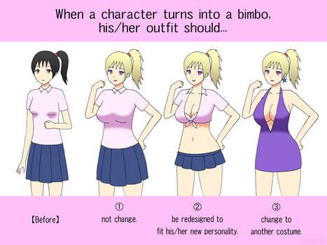 Poll: Outfit Change of Bimbofication by gomyugomyu