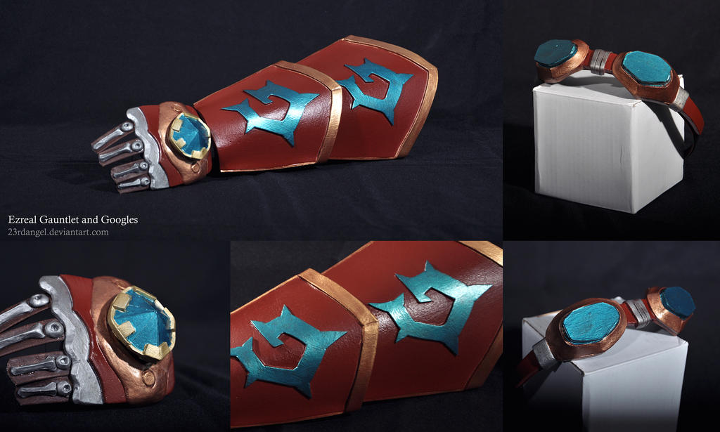 Leaue of Legends: Ezreal Gauntlet + Googles by 23rdAngel