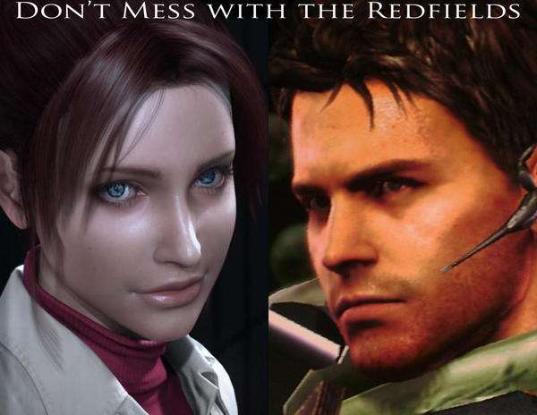 Chris and Claire Redfield by redfield37