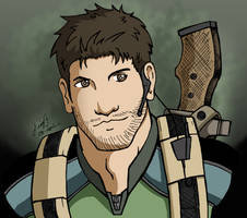 Chris Redfield Portrait by redfield37