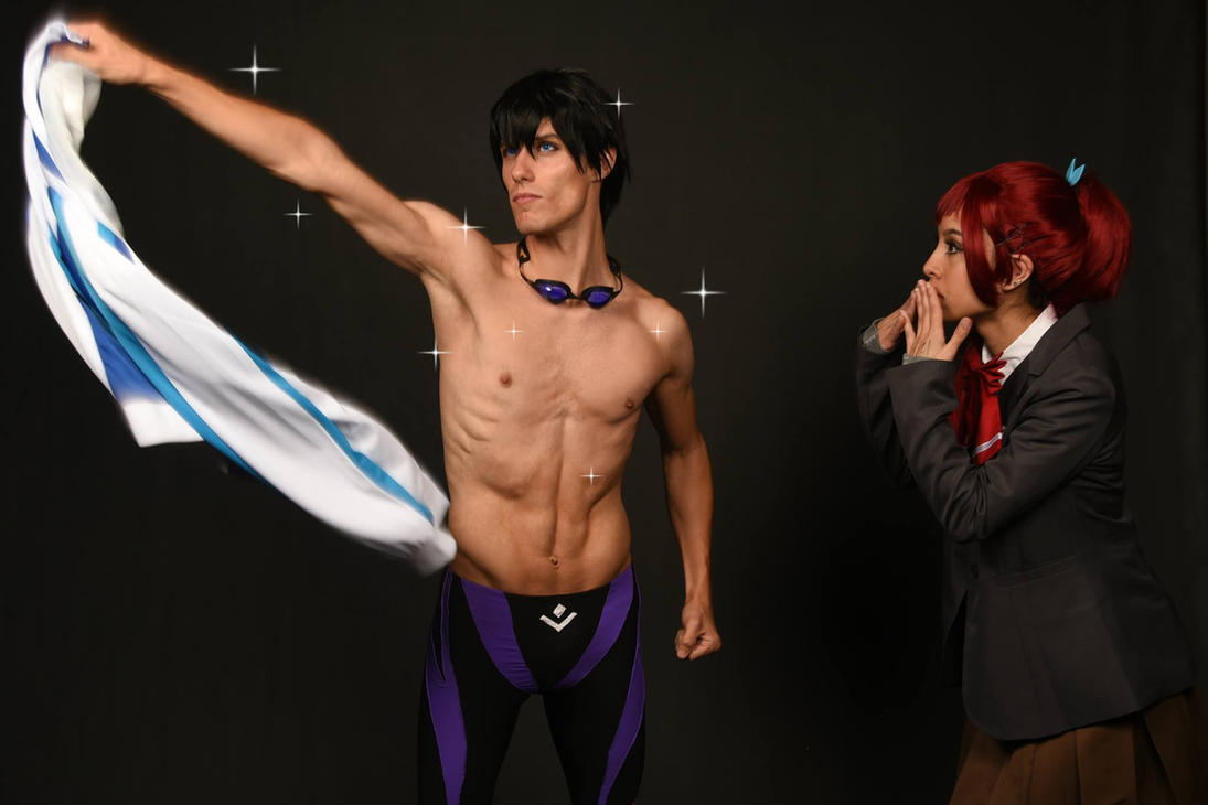 Haruka and Gou Cosplay (Free!) by PtrCosplay