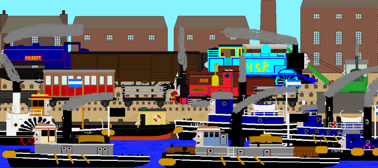 A busy day at The Wharf by islandofsodorfilms