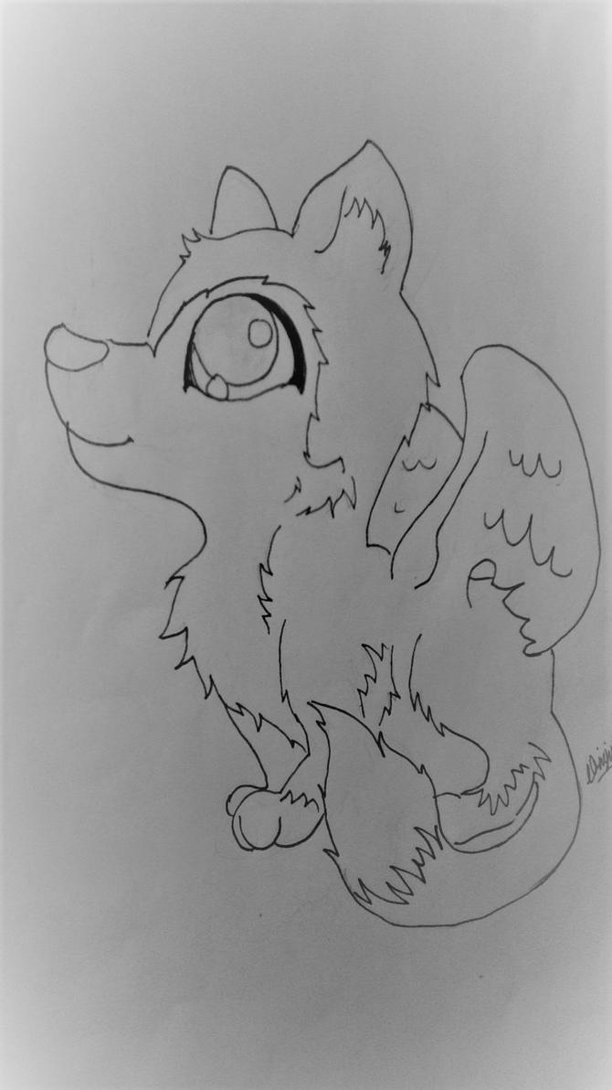 Star Wolfie Sketch by AbiCat3043