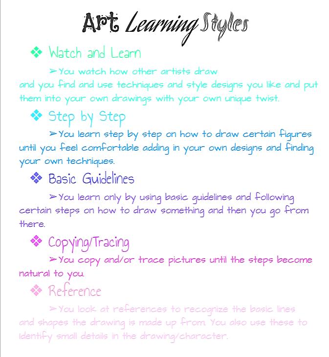 Art Learning Styles by AbiCat3043