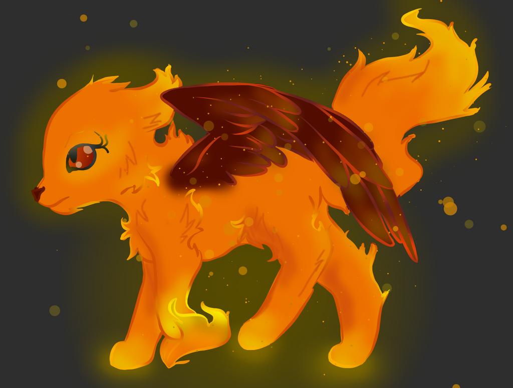 Fire Kitty by AbiCat3043